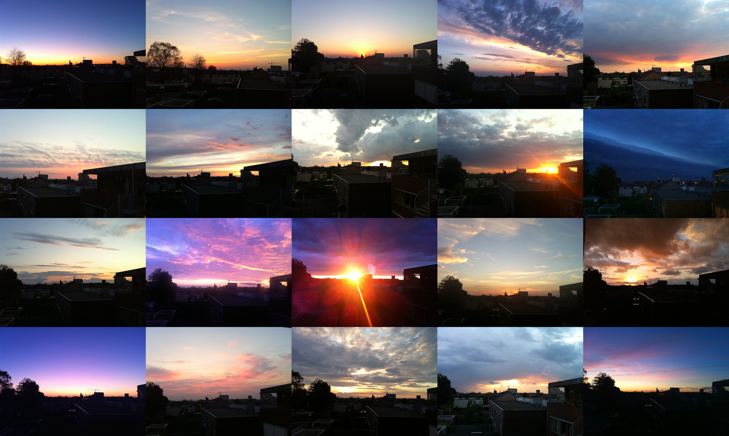 sunset photography collage