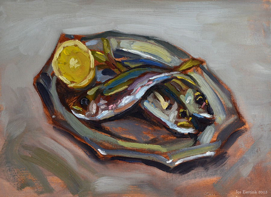 Painting fish still lifes