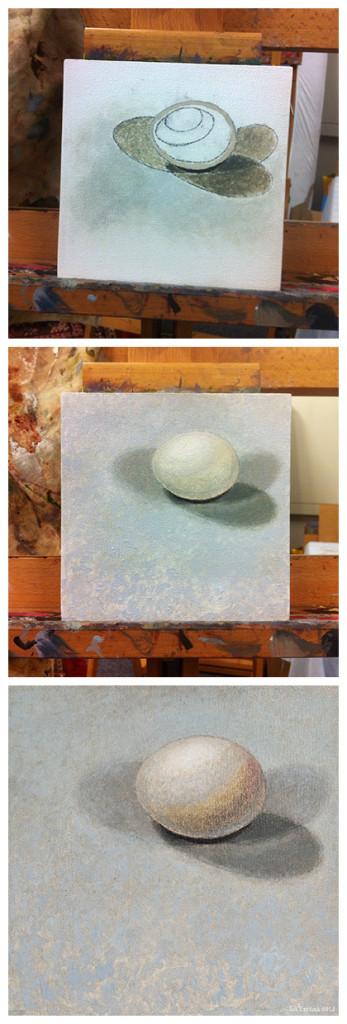 Painting eggs fine art