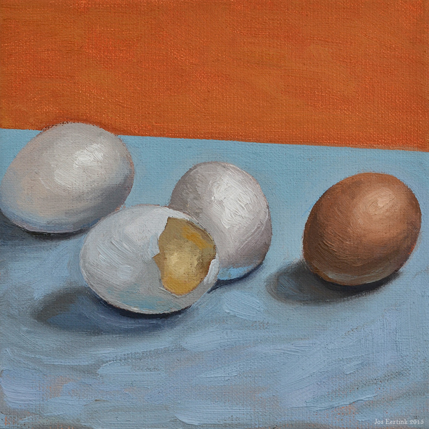 painting eggs alla prima